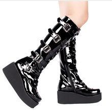 Deat 2021春夏新作ファッションカジュアル女性の靴クロスロリータパンクブーツ厚い底マフィンブーツSH575