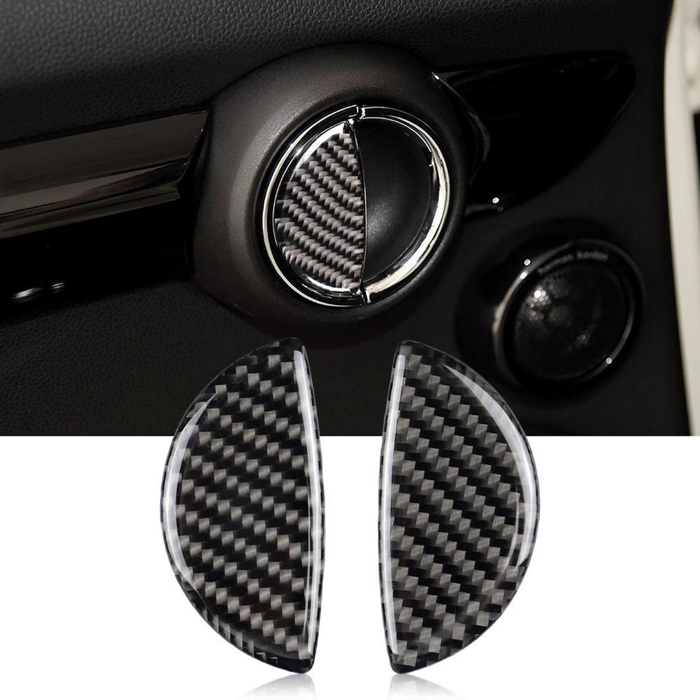 Углеродное волокно крышка внутренней дверной ручки Наклейки интерьерные модификации для Mini Cooper R55/R56/R60/R61 F55 F54 F60