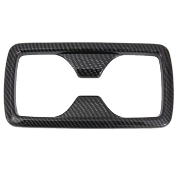For Toyota Rav4 Xa50 2018 2019 Carbon Style Interior Rear Seat Water Cup Holder Frame Sticker Cover Trim Car Styling image