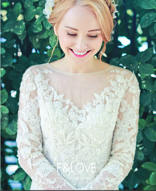 Crystal Beading Vestido De Noiva Vintage 2018 Sexy Long Sleeves Lace Appliques Mermaid Bridal Gown Mother Of The Bride Dresses