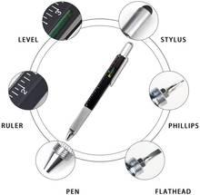 Подарочная ручка инструмент 6 в 1 мультиинструмент технологическая