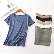 Женская хлопковая футболка высокого качества эластичная простая