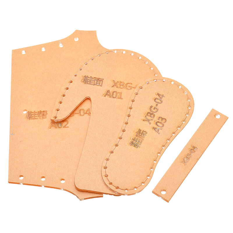 1 Set Clear Acrylic Leather Template Shoes Pendant Pattern Set Leather Craft Acrylic Template Set DIY Leathercraft Tools