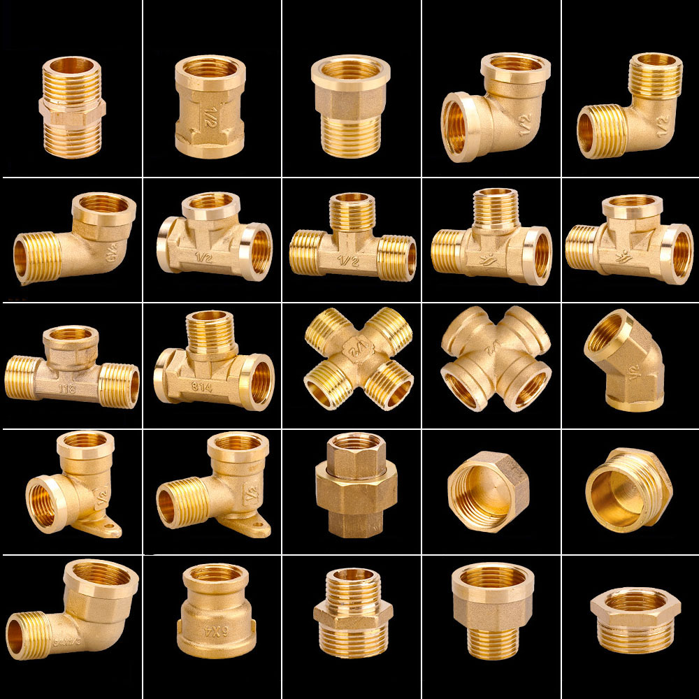 1PCS Water Pipe Plumbing Fittings 6 Points To 4 Points Copper Reducing Inner Wire Hose Outlet Double Inner Wire Pair Connector