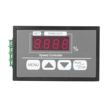 DC 6V 12V 60V 0-30A Speed Controller Digital Percentage Display DC Brush Motor Governor With Digital Display
