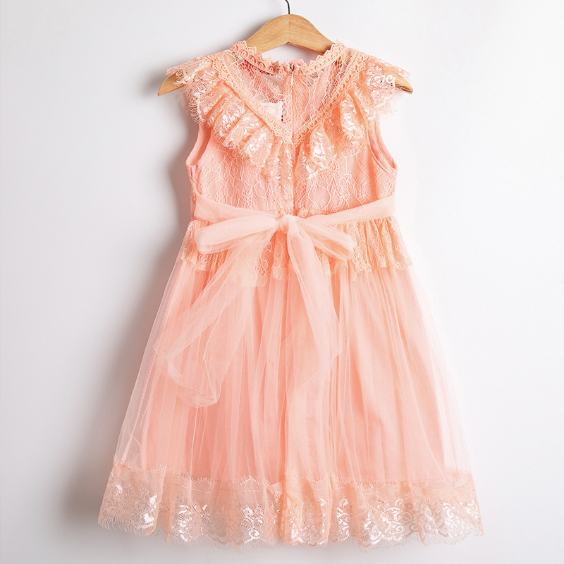 Ha76cccef9c9145d9b739ea61d33c72e8U Girls Dress 2019 New Summer Brand Girls Clothes Lace And Ball Design Baby Girls Dress Party Dress For 3-8 Years Infant Dresses