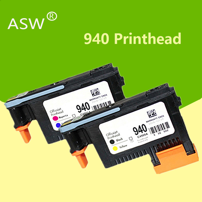 ASW 1set 2PK Compatible Printhead For HP 940 C4900A Print Head For HP940 Pro 8000 A809a 8500A A910a A910g A910n A809n A811a 8500