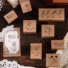 Rubber-Stamps-Set for C U2P6 Notebook Scrapbooking Diary Flower-Making Plant-Tree Wooden
