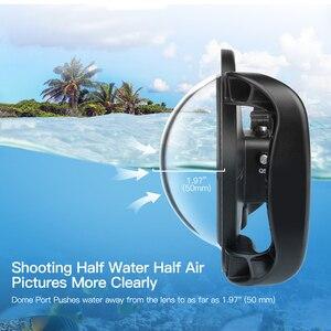 Image 4 - לירות 6 כפולה כף יד כיפת יציאת עמיד למים צלילה דיור מקרה כיסוי עם טריגר עבור DJI אוסמו פעולה מצלמה עדשה אבזרים