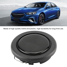 Универсальный модифицированный автомобильный Стайлинг гоночный автомобиль рулевое колесо Рог Кнопка динамик управление крышка+ металл+ пластик черный