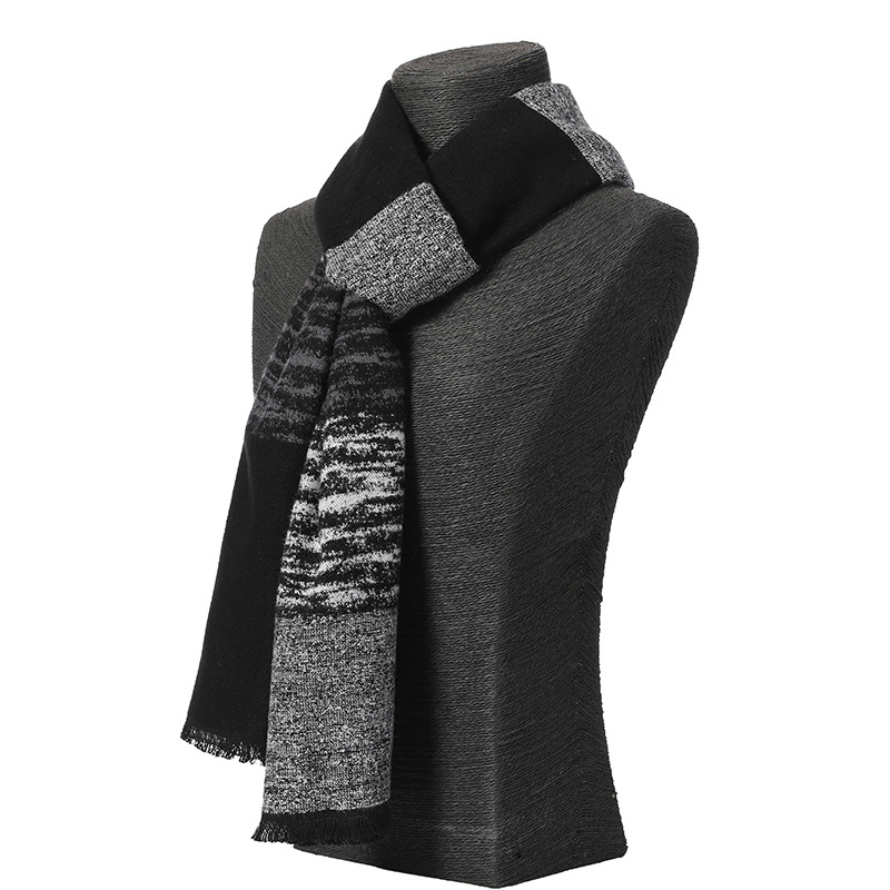 2019 Classic Winter Casual Scarves Men Cashmere Scarf Warm Neckercheif Plaid Scarves Men Business Cotton Wraps Male High Quality