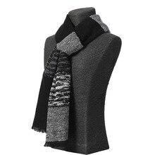 Классические зимние повседневные шарфы, мужской кашемировый шарф, теплый шейный платок, клетчатые шарфы, мужские деловые хлопковые шарфы высокого качества