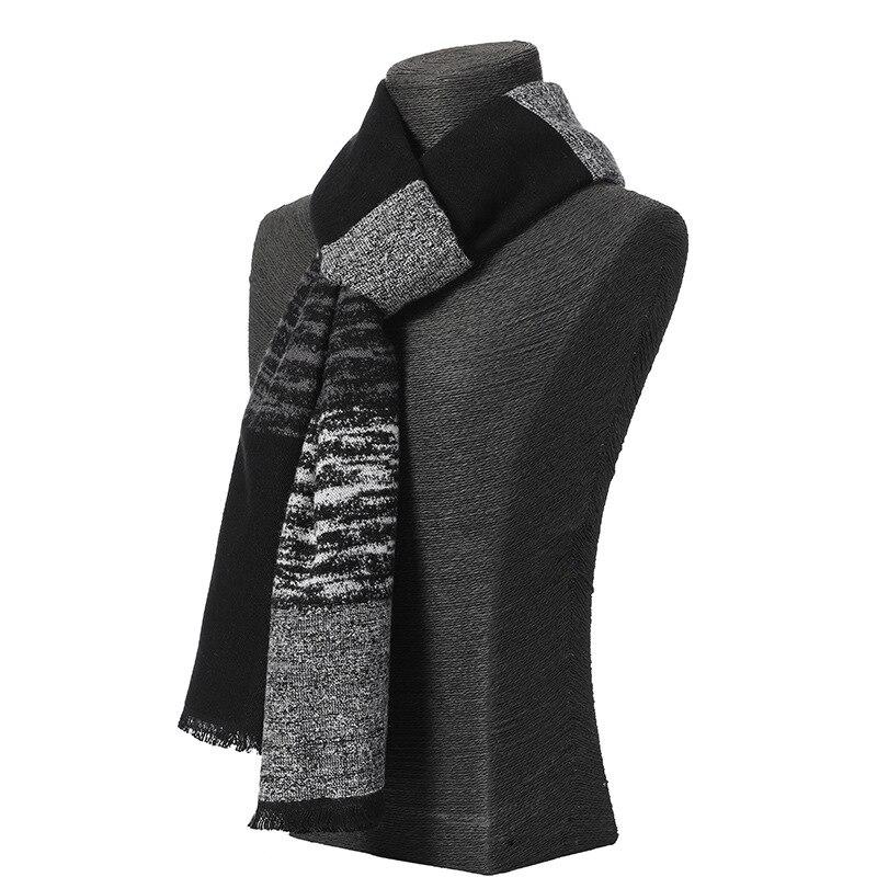 2020 Classic Winter Casual Scarves Men Cashmere Scarf Warm Neckercheif Plaid Scarves Men Business Cotton Wraps Male High Quality