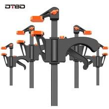 DTBD 4 Cal klip Quick Ratchet prędkość zwalniania wycisnąć drewna pracy Bar F zacisk zestaw klipsów rozrzutnik gadżet narzędzia narzędzia ręczne DIY