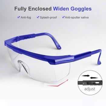 1PCS Safety Glasses Transparent Dust-Proof Glasses Working Glasses Lab Prevent-virus Splash Protective Anti-wind Glasses Goggles фото