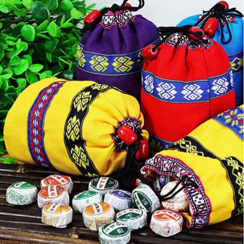 50Pcs Pu'erชา 8 รสชาติที่แตกต่างกัน 2020 Mini Yunnan Pu-ErhชาจีนPu-Erh Tea Chaiพร้อมกระเป๋าของขวัญ