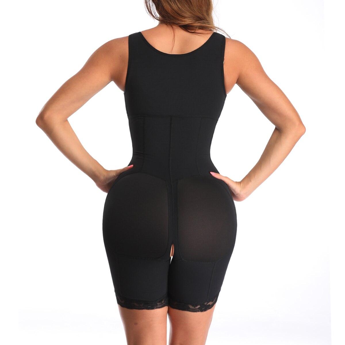 6XL Shapewear Slimming Waist Bodysuit Powernet Lingerie Full Body Shaper for Women Bum Lifter Tummy Control Zipper Thigh Slimmer