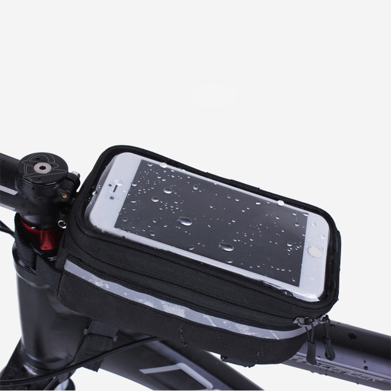 BICYCLE BAGS CYCLING <font><b>BIKE</b></font> FRAME IPHONE BAGS HOLDER PANNIER MOBILE PHONE BAG <font><b>CASE</b></font> POUCH(small gift) image