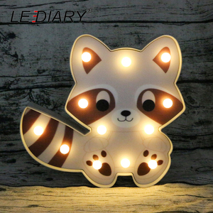 Image 5 - LEDIARY 3D צבעוני בעלי החיים LED לילה אורות חמוד פנדה האריה דביבון צורת המיטה שולחן מנורת לילדים צעצוע לילדים יום מתנה