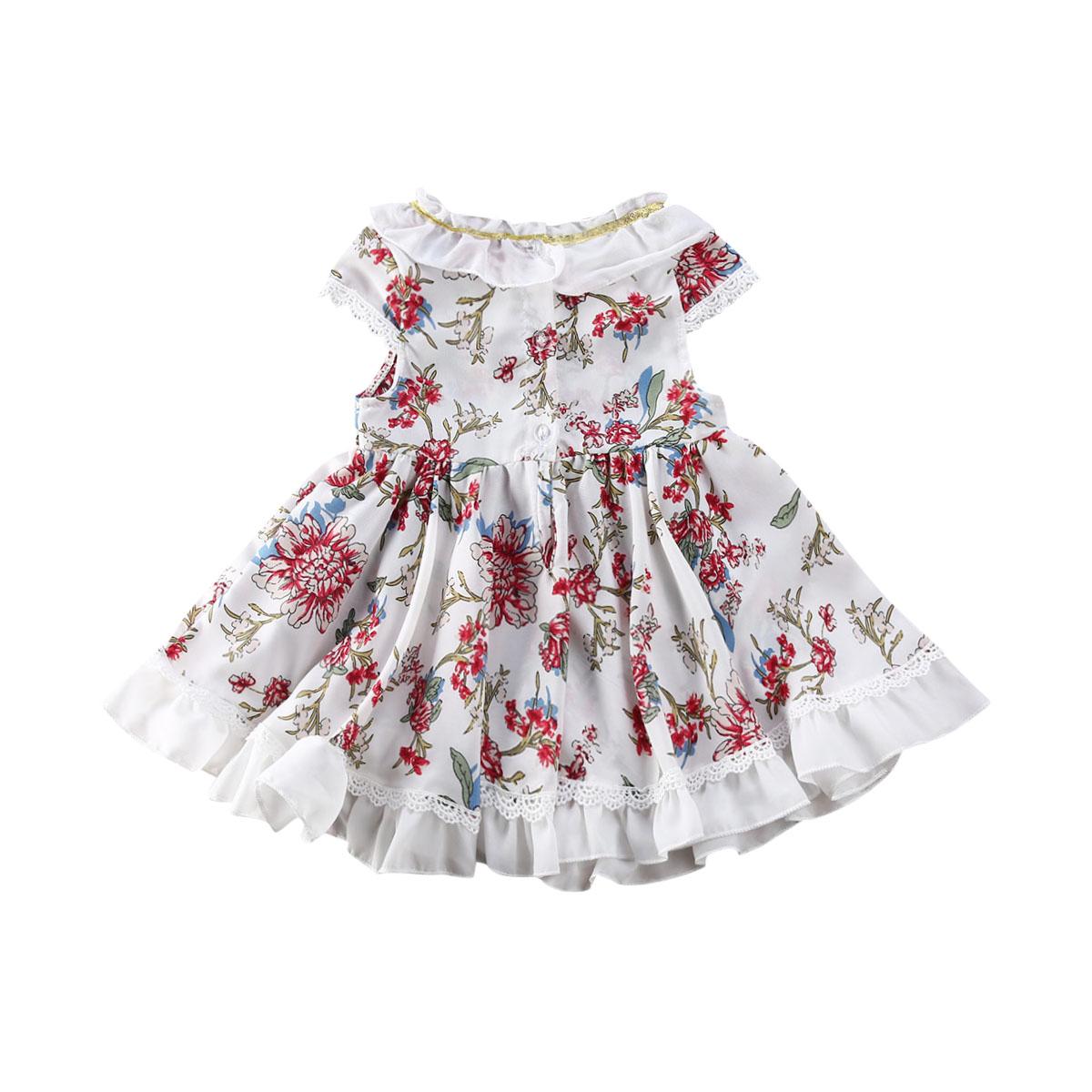 Baby Kids Girls Summer Dresses Toddler Infants Beach Sleeveless Princess Clothes