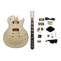 Water Rippling LP Guitars Material Kit Mahogany Neck Music Instrument Parts