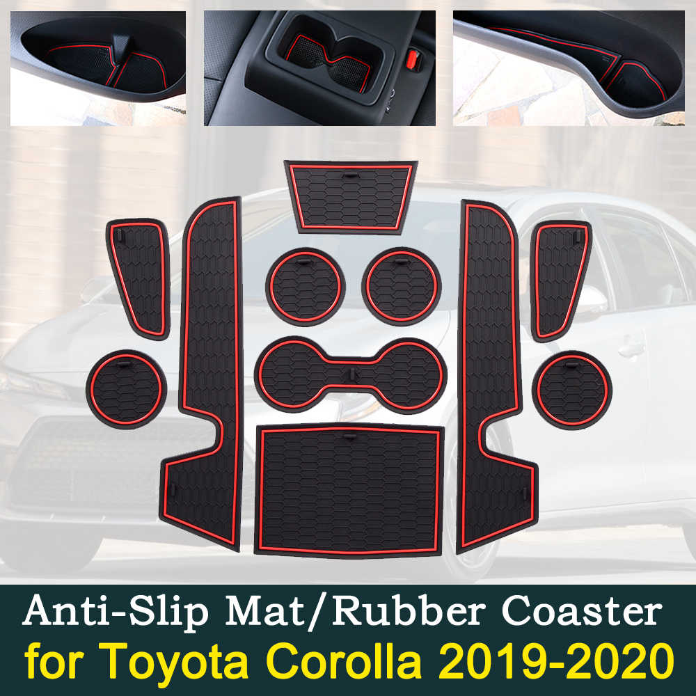 Best Car Accessories 2021 Anti slip Car Door Rubber Cup Cushion for Toyota Corolla E210 210
