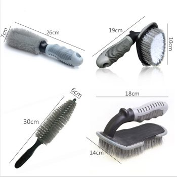 Car Wheel Cleaning Brush Detailing Brush Car Wheel Wash Brush Car Cleaning Brush Wheel Rims Tire Washing Brush Auto Wash Tools image