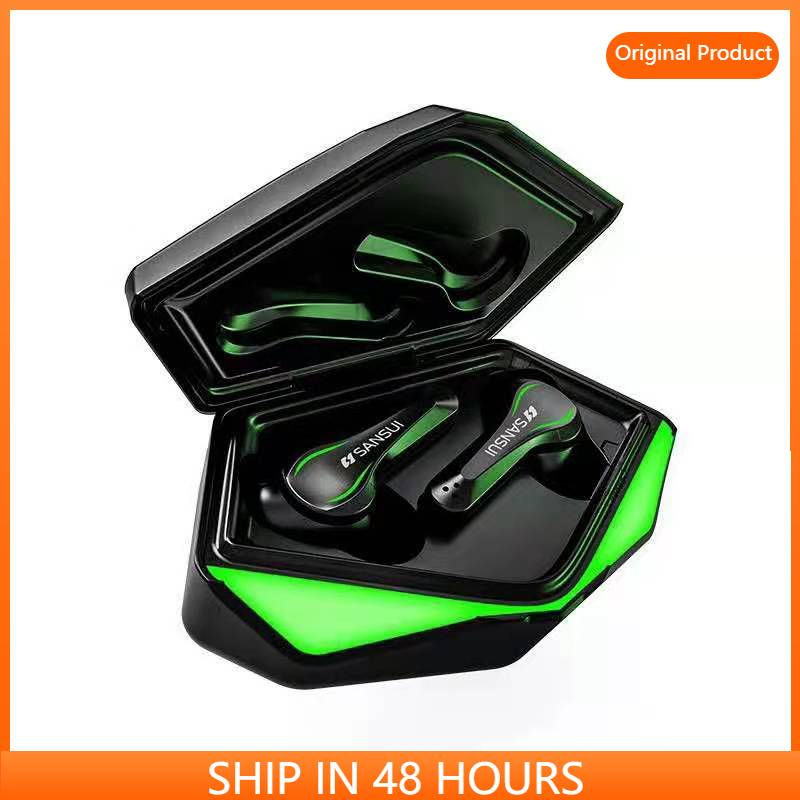 Sansui TW11 E sports gaming wireless bluetooth headset with microphone bass audio...