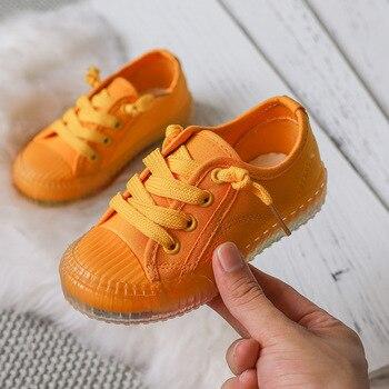 Весенне-Осенняя детская обувь; повседневная обувь для маленьких мальчиков и девочек; модная удобная парусиновая обувь с леопардовым принто...