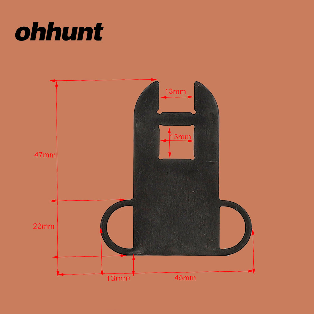 Ohhunt Hunting Sling Adapter Mount Steel Receiver Ambidextrous Dual Loop End Plate Sling For Tactical Rifle 7.62x39 AK47 AK-74