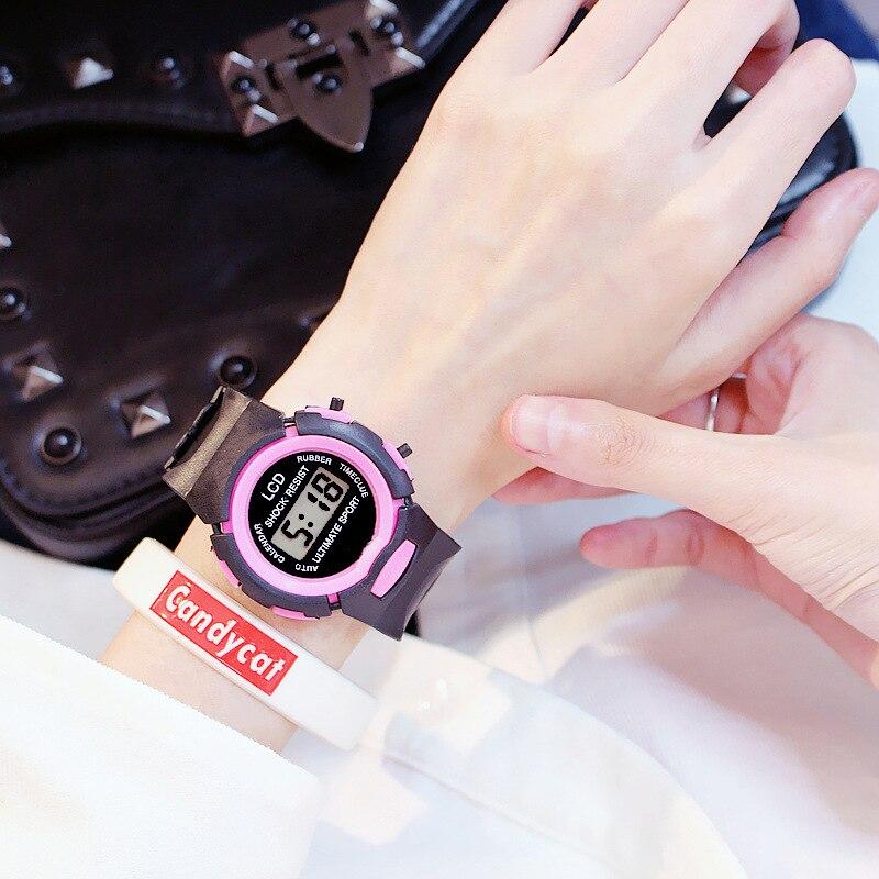 Wristwatch Digital Electronic Clock Sports Child Hot The of Korean-Version Simple