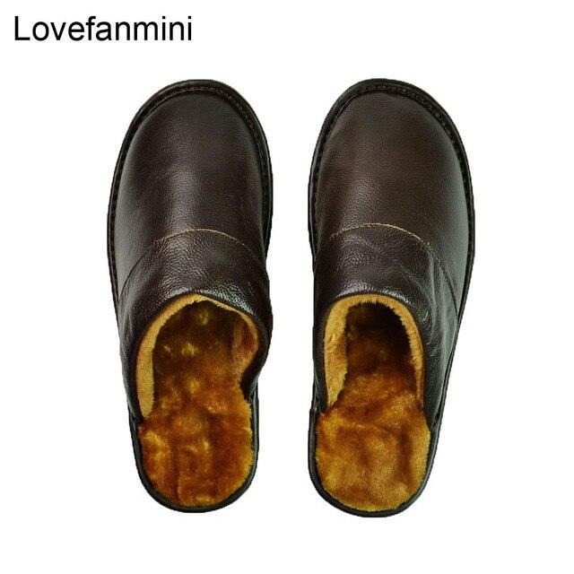 Prawdziwa krowa skórzane kapcie para kryty antypoślizgowe mężczyźni kobiety domu modne buty w stylu casual pcv miękkie podeszwy zima 618
