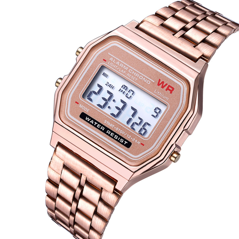LED Sports Women Men Unisex Watch Stainless Steel Military Wristwatches Electronic Digital Watches Gifts Watch Horloges Mannen