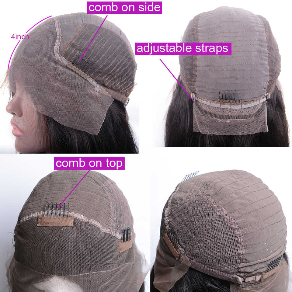 Afro kinky encaracolado peruca 4 × 4 fechamento do laço peruca perucas de cabelo humano para as mulheres brasileiro laço frontal encerramento peruca não remy livre para brasil