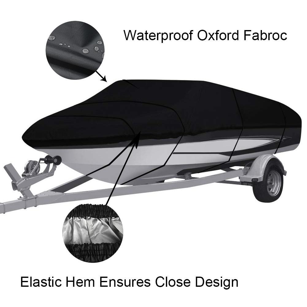 Imperméable à l'eau 210D couverture de bateau Yacht Protection UV infrarouge en forme de V bleu bateau couvre pêche Ski tissu