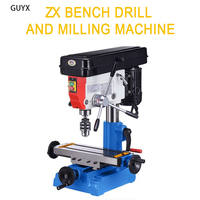 Small Metal Drilling and Milling Machine, Woodworking DIY Full Copper Wire Mini Drilling and Milling Machine