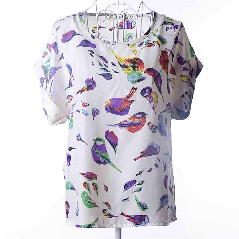 European and American Plus Size Women Clothing Multi Patterns Printing t shirt Woman Short sleeve Tops Summer Roupas Femininas