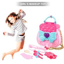 Children's Play House Makeup Toy Set Suitcase Play House Toy Simulation Handbag Girl Beauty Makeup Toy Exquisite Birthday Gift(China)
