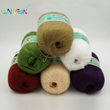 10 pieces*50g Mink cashmere 98%,pashm 2% Wholesale! Yarn for knitting mink baby wool hand knitted Soft hand knitting thread t4