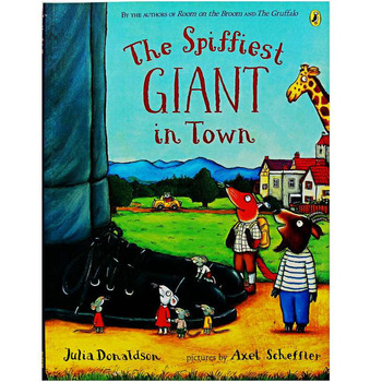The Spiffiest Giant in Town By Julia Donaldson Educational English Picture Book Learning Card Story For Baby Kids Children - discount item  5% OFF Learning & Education