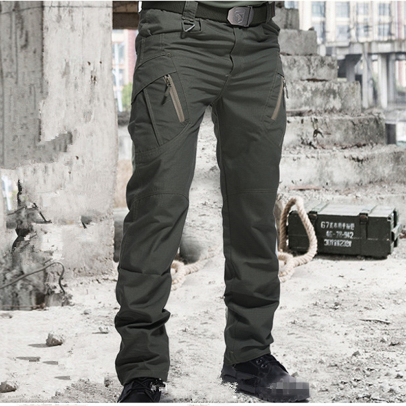 Cargo Pants Army-Trousers SWAT Many-Pockets Combat Military Waterproof Men Casual Wear-Resistant