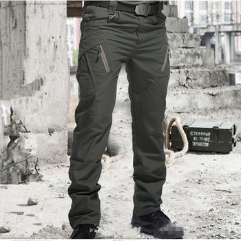 Men Many Pockets Outdoor Waterproof  Wear Resistant Casual Cargo Pants 1