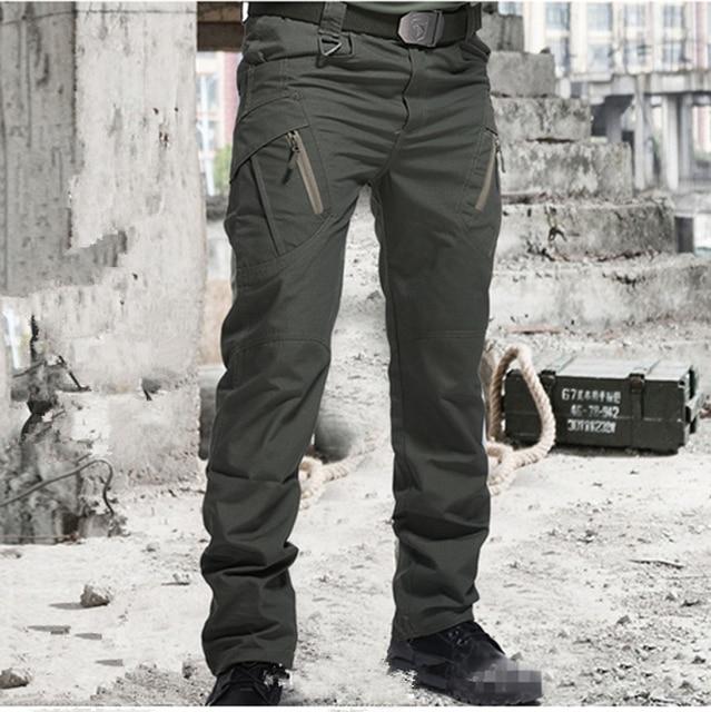 Men Many Pockets Outdoor Waterproof  Wear Resistant Casual Cargo Pants 1