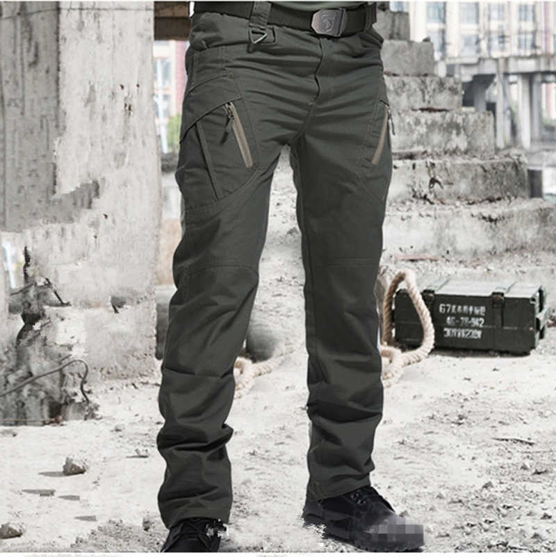 Stad Nieuwe Militaire Tactische Broek Mannen Swat Combat Broek Mannen Veel Zakken Outdoor Waterdichte Slijtvast Casual Cargo Pant Tactische broek Militaire City Tactical Pants