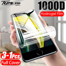 3 pçs 1000d capa completa protetor de tela de filme de hidrogel para o iphone se 2020 fim macio para o iphone 11 12 pro max xs x 7 8 mais se 2