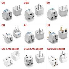100pcs Universal UK Plug Adapter USA EU AU Power Adapter International Japan US to UK Travel Adapter Australia Electric Outlet