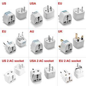 Image 1 - 100pcs Universal UK Plug Adapter USA EU AU Power Adapter International Japan US to UK Travel Adapter Australia Electric Outlet