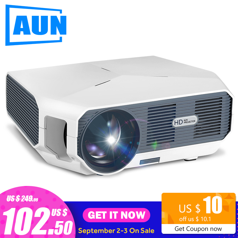 AUN MINI Projector Video-Beamer. Cinema.-Support Optional-Android-Version 1080P 1280x720p