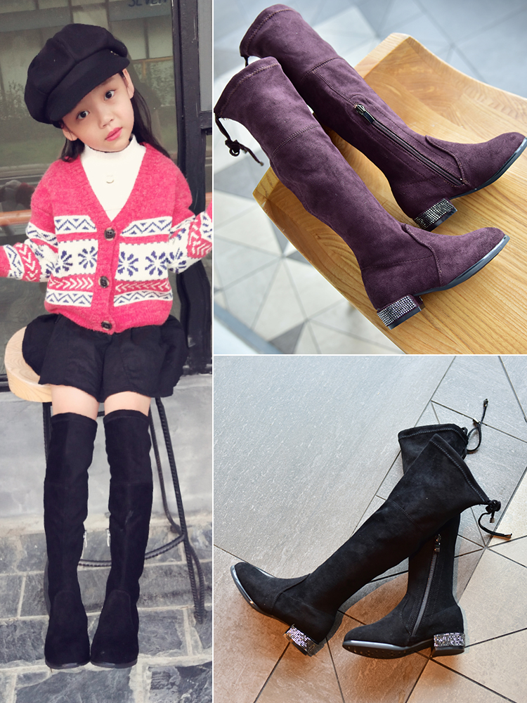 Girls Over The Knee Boots 2020 New Spring Autumn Single Fashion Boots Little Girl Princess Shoes High Children's Boots Students