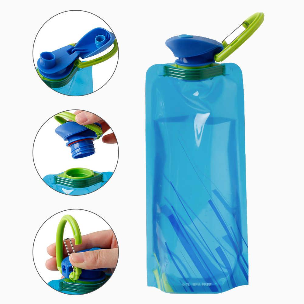 700ml dobrável garrafa de água sacos de proteção ambiental dobrável portátil esportes ao ar livre garrafas de água para caminhadas acampamento